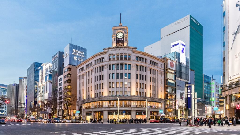 Ginza Crossing, Shopping Capital of Tokyo