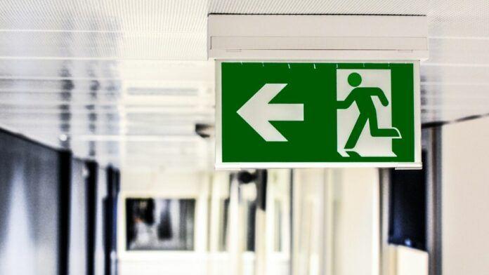 Tokyo Emergency & Disaster - Emergency Exit Sign Japan