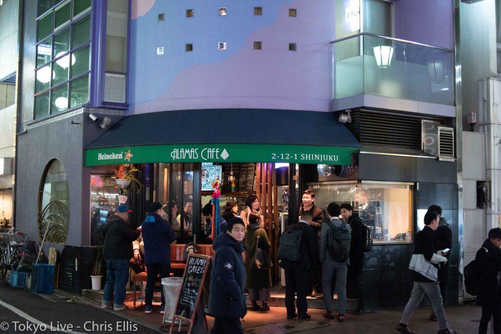 Alamas Cafe - Popular gay bar-cage in Shinjuku Ni-Chome