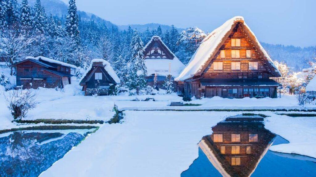 Tokyo Area Ski Resorts, Japanese Log Cabin